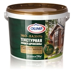 Купить Олимп ОЛИМП Эко - лазурь акриловое защитное декоративное покрытие 10л - купить с доставкой с доставкой