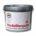 Купить Jobi JOBI MODELLIERPUTZ Штукатурка акриловая декоративная, зерно 0,3мм 20кг - купить с доставкой с доставкой