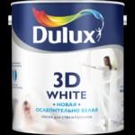 Купить Akzo Nobel DULUX 3D WHITE Ослепительно белая матовая акриловая  2,5л - купить с доставкой с доставкой