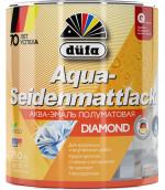 Купить  Dufa  Aqua-Seidenmattlack эмаль полуматовая акриловая 2,5л - купить с доставкой с доставкой